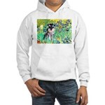 Irises / Miniature Schnauzer Hooded Sweatshirt