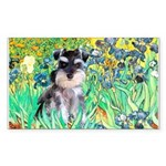 Irises / Miniature Schnauzer Sticker (Rectangle 10