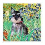 Irises / Miniature Schnauzer Tile Coaster