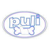 Powderpuff Puli Oval Decal