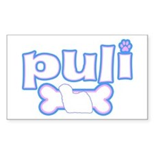 Powderpuff Puli Rectangle Decal