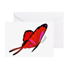 Red Flutters Greeting Card