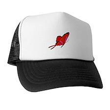 Red Flutters Trucker Hat