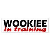 """Wookiee in training"" Bumper Bumper Sticker"