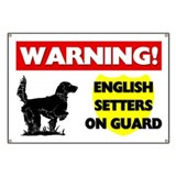 English Setters On Guard Banner