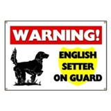 English Setter On Guard Banner