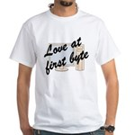 Love At First Byte White T-Shirt