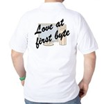 Love At First Byte Back Image Golf Shirt