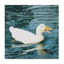 Happy Duck Tile Coaster