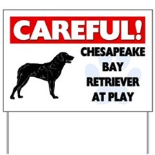 Chesapeake Bay Retriever At Play Yard Sign