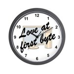 Love At First Byte Wall Clock