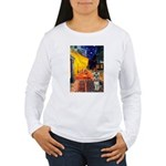 Cafe / Schnauzer (#8) Women's Long Sleeve T-Shirt
