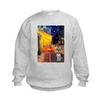 Cafe / Schnauzer (#8) Kids Sweatshirt