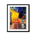 Cafe / Schnauzer (#8) Framed Panel Print