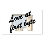 Love At First Byte Rectangle Sticker