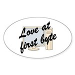 Love At First Byte Oval Sticker (50 pk)