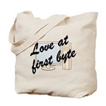 Love At First Byte Tote Bag