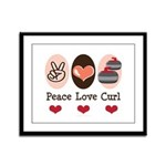 Peace Love Curl Curling Framed Panel Print