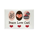 Peace Love Curl Curling Rectangle Magnet (100 pack
