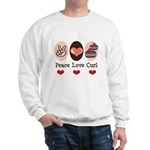 Peace Love Curl Curling Sweatshirt