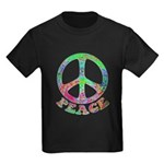 Swirling Peace Kids Dark T-Shirt