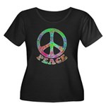 Swirling Peace Women's Plus Size Scoop Neck Dark T