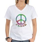 Swirling Peace Women's V-Neck T-Shirt