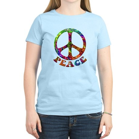Jewelled Peace Symbol Women's Light T-Shirt