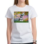 Garden / Miniature Schnauzer Women's T-Shirt