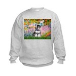 Garden / Miniature Schnauzer Kids Sweatshirt
