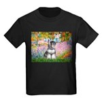 Garden / Miniature Schnauzer Kids Dark T-Shirt