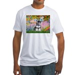Garden / Miniature Schnauzer Fitted T-Shirt