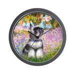 Garden / Miniature Schnauzer Wall Clock