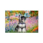 Garden / Miniature Schnauzer Rectangle Magnet (100