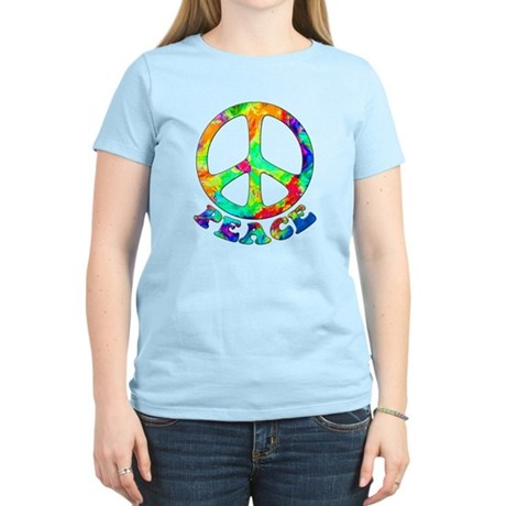 Rainbow Pool Peace Symbol Women's Light T-Shirt