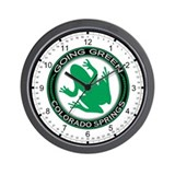 Going Green Colorado Springs Frog Wall Clock