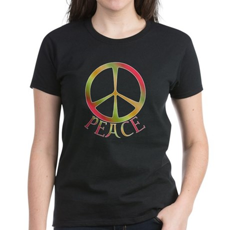 Earth Toned Peace Women's Dark T-Shirt