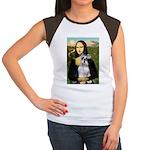 Mona Lisa/Schnauzer (#2) Women's Cap Sleeve T-Shir