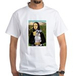 Mona Lisa/Schnauzer (#2) White T-Shirt