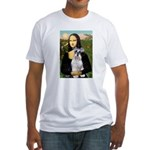 Mona Lisa/Schnauzer (#2) Fitted T-Shirt