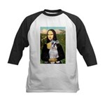 Mona Lisa/Schnauzer (#2) Kids Baseball Jersey