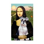 Mona Lisa/Schnauzer (#2) Sticker (Rectangle)