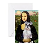 Mona Lisa/Schnauzer (#2) Greeting Cards (Pk of 20)