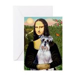 Mona Lisa/Schnauzer (#2) Greeting Card