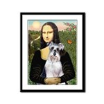 Mona Lisa/Schnauzer (#2) Framed Panel Print