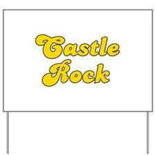 Retro Castle Rock (Gold) Yard Sign