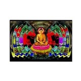&quot;Buddha Swirl&quot; - Rectangle Magnet