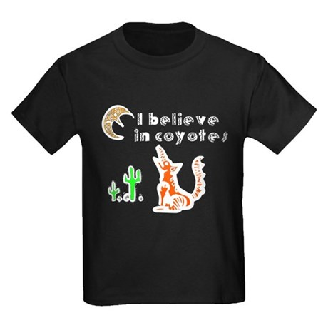 Believe in Coyotes Kids Dark T-Shirt