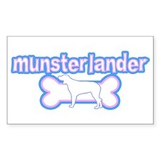 Powderpuff Munsterlander Rectangle Decal
