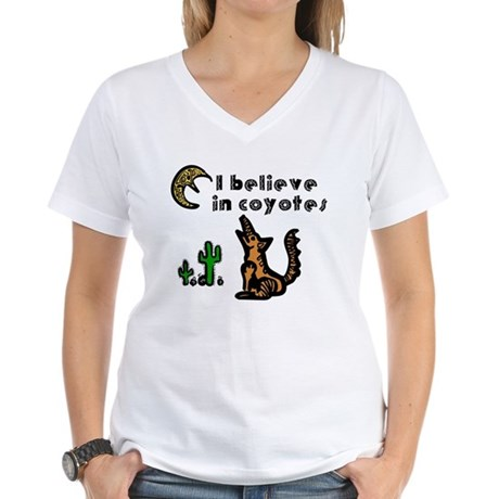 Believe in Coyotes Women's V-Neck T-Shirt